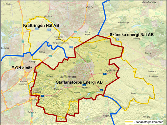 staffanstorp karta Nätområde ‹ Staffanstorps Energi AB staffanstorp karta